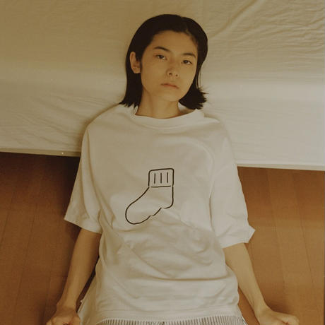 """UP+N 21SS """"SOX"""" TEE(white)"""