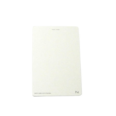 WHITE CARD(postcard)