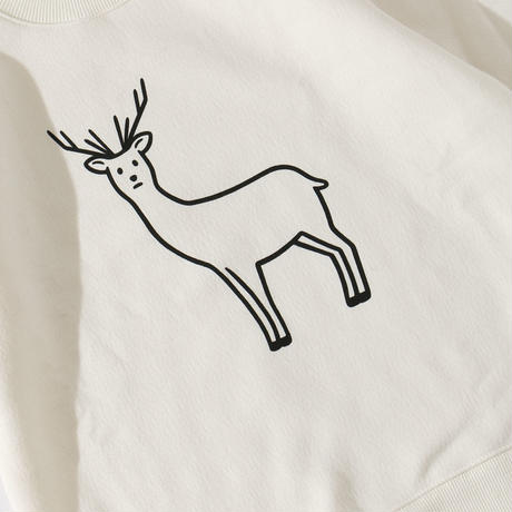 SAFE DEER (sweat/white)
