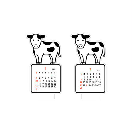 2021 DIECUT CALENDAR (cow)