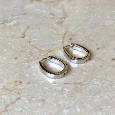 Horseshoe hoop pierce(SILVER)