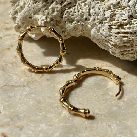 Bamboo hoop pierce (GOLD)