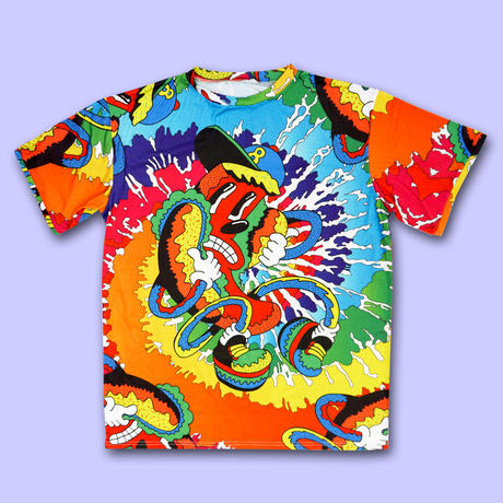 HOT PSYCHE DOG DELiC  ALL OVER PRINT T-Shirts〈NZ001-3〉
