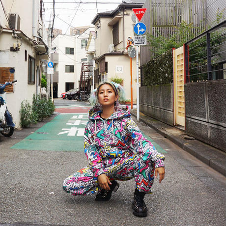 PARTY NiGHT ALL OVER PRiNT Jumpsuits〈NZ009〉