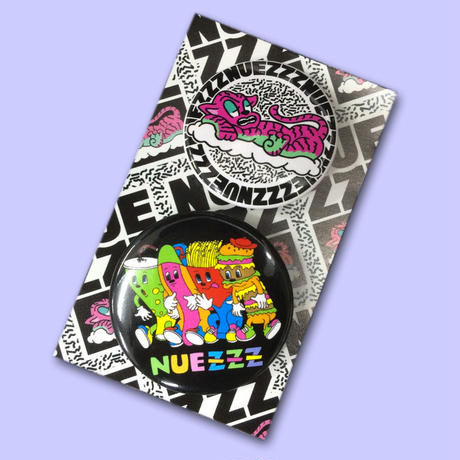 NUEZZZ 38mm&44mm button badge set