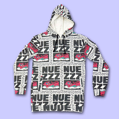 NUE ZZZ LOGO ALL OVER PRINT Hoodie〈NZ007-1〉