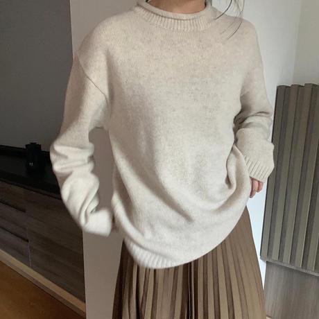 【即納】(ivoryのみ) wool 100 crew knit