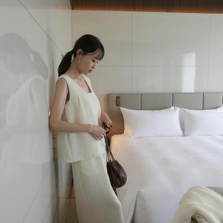 Yoryu crepe cami tops