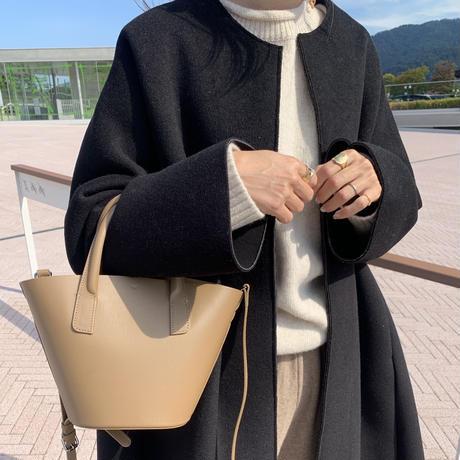 【即納】(blackのみ) bucket bag (real cow leather)