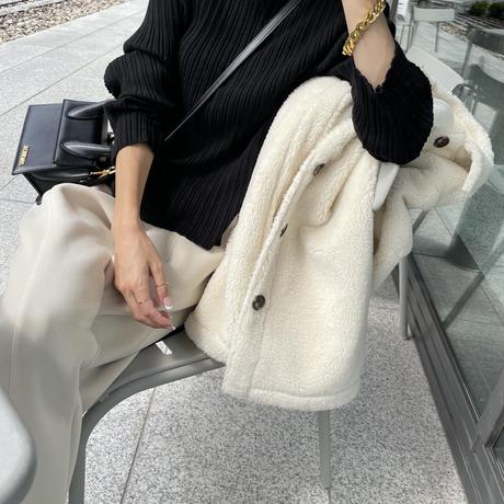 Short  White Bore Coat