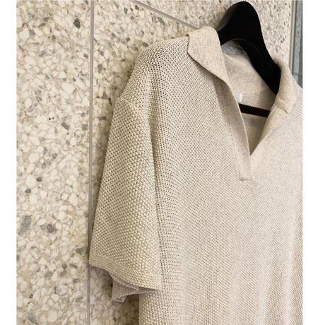 waffle knit Polo OP