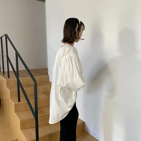 cotton volume gather blouse