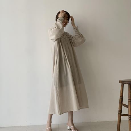ECOproduct / cuff design organic cotton dress
