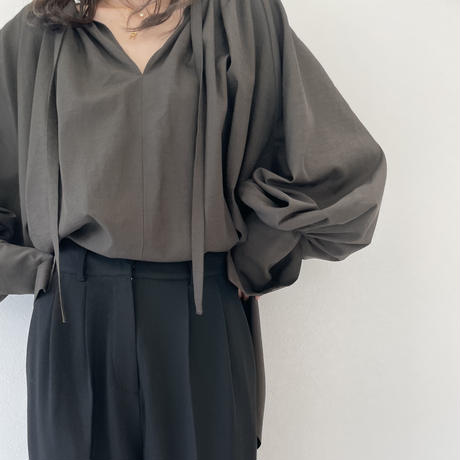 Black high waist tuck PT
