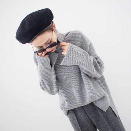 ハイネックリブオーバー【12月中旬〜下旬発送】