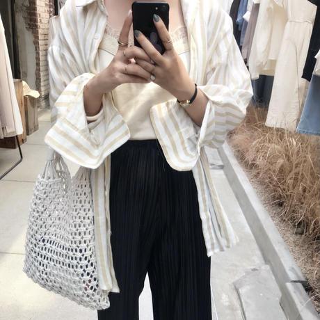 linen stripe shirt【7月中旬より順次発送】