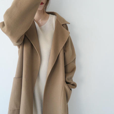 【即納】'NUEmade' handmade wool coat (stole set)