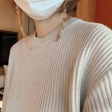 【即納】(light beigeのみ) autumn Knit