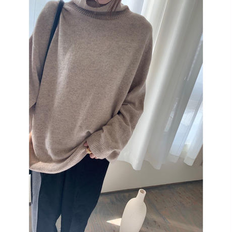 wool cashmere turtle knit