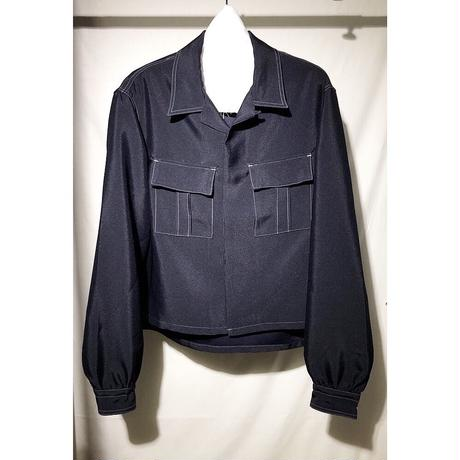 open-necked Shirt - wt. stitched