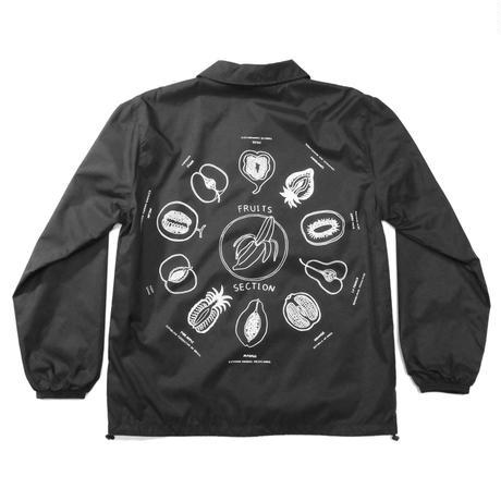 """""""Fruits"""" Coach jacket #Black - by SHUNTAROU TAKEUCHI × RYUHEI KOBOSHI"""