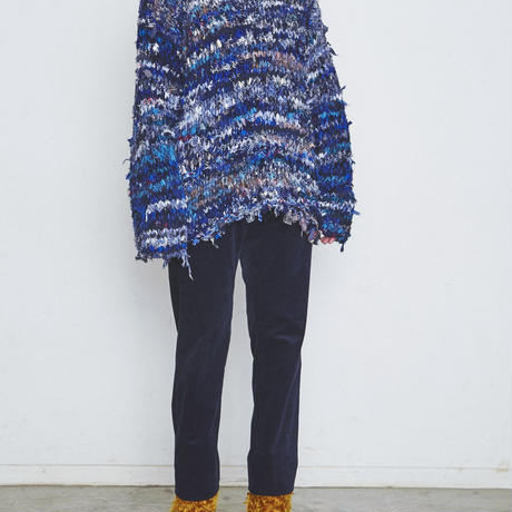 Re: Flannnel - Crew neck pullover knit  #Blue008  by old park × NuGgETS