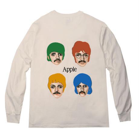 """[online store限定色] """"Apple"""" l/s tee #Sand beige"""
