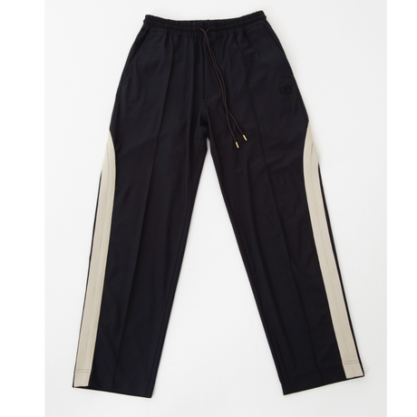 [ NuGgETS × JOHNDOE ]  Line Field Pants  #Black