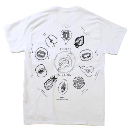 """Fruits"" front pocket T-shirts  #white - by SHUNTAROU TAKEUCHI × RYUHEI KOBOSHI"