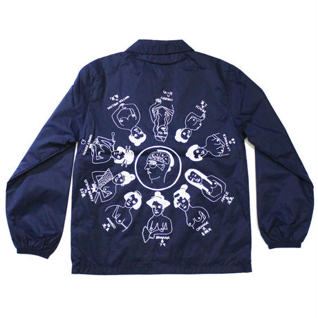 """Oiran""Coach jacket #Navy - by SHUNTAROU TAKEUCHI × RYUHEI KOBOSHI"