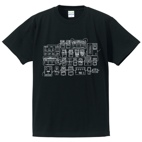 """NUITO Tee """"PEDALS"""" [BLK]"""