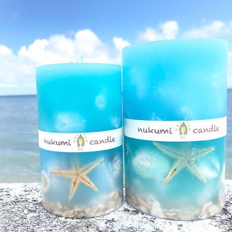okinawa  sea shell  candle  M