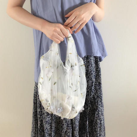 organdy bag (soft blue)