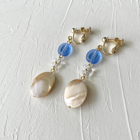 イヤリング blue & shell