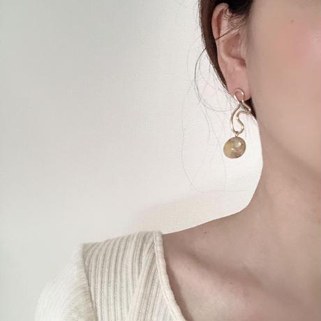 ピアス|uneune + shell beads