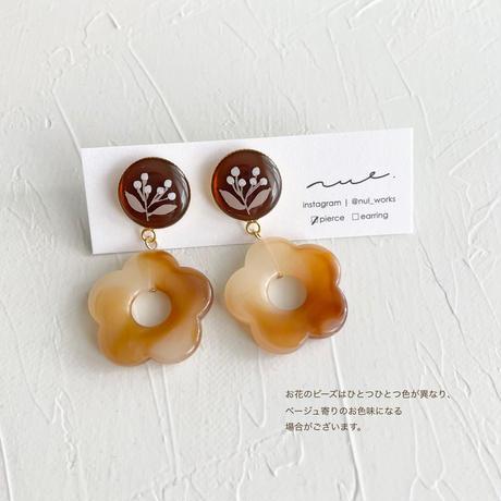 花とビーズ <cafe latte>  02