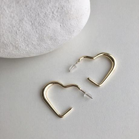 ピアス|heart hoop