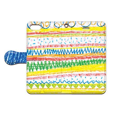 saaya (さーや)  クレパス(パターン) 手帳型スマホケース 対応機種(iPhone/アンドロイド機種)