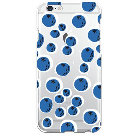 No.INFINITE ブルーベリー by maw クリア ハード ケース(側面部印刷なし) 対応5機種(iPhone機種)