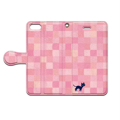 Shimako(しまこ) スクエア(ピンク) 手帳型スマホケース 対応機種(iPhone/アンドロイド機種)