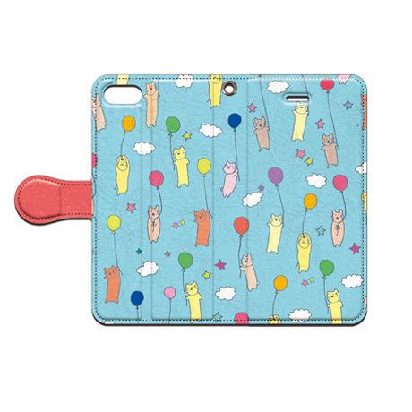 saaya (さーや)  風船にゃんこ 手帳型スマホケース 対応機種(iPhone/アンドロイド機種)