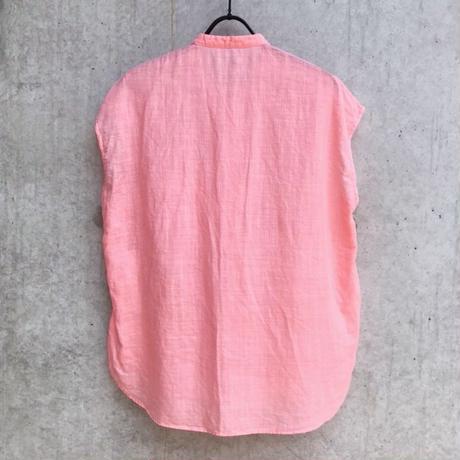【ゴーシュ】100/1リネンコットンダイフレンチスリーブシャツ