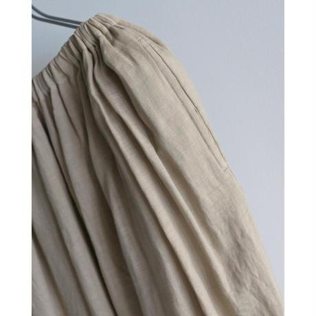 【ゴーシュ 】Lady's  80/1 リネンギャザースカート