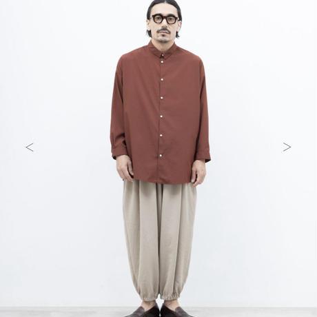 【NO CONTLOR AIR】マットポリエステルタイプライターワイドシャツ