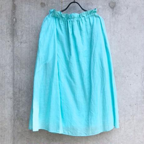 【ゴーシュ】100/1リネンコットンダイギャザースカート