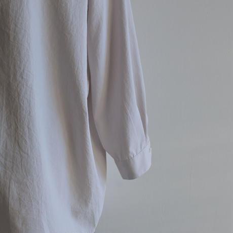 【NO CONTLOR AIR】マットポリエステルタイプライターワイドシャツ  レディースサイズ