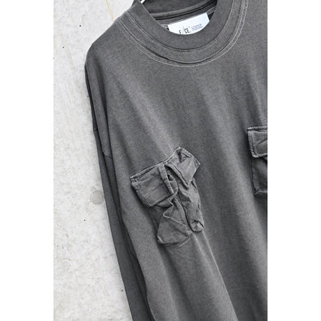 【F/CE.®︎】 3D POCKET LONG SLEEVE TEE  Black