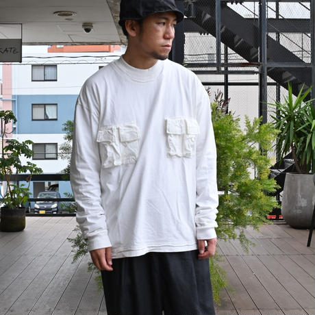 【F/CE.®︎】 3D POCKET LONG SLEEVE TEE White