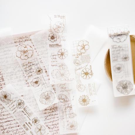コラージュ素材 植物のデザインペーパー 30枚 flower [AZ222]