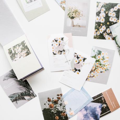 コラージュ素材 フレークシール 50枚 flowers [AZ251]